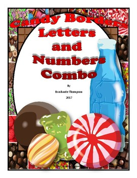 Candy Borders, Letters and Numbers Combo (Class Decor)