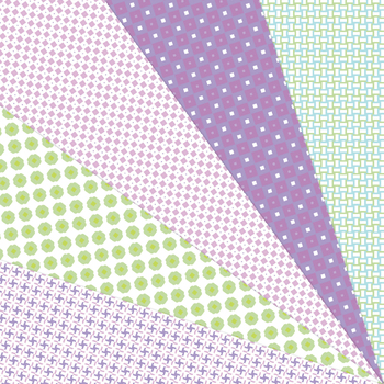 Candy Box - 20 Digital Papers in White, Pink, Green, Blue and Purple