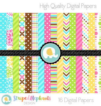 Candy Bright Digital Papers