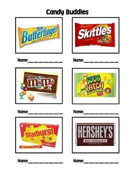 Candy Buddies Classroom Partner Sheet