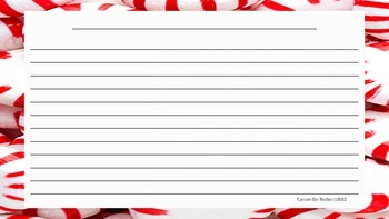 Candy Cane Handwriting Paper *FREE*