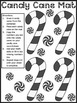 Candy Cane Activities: Candy Cane Number Patterns Christma