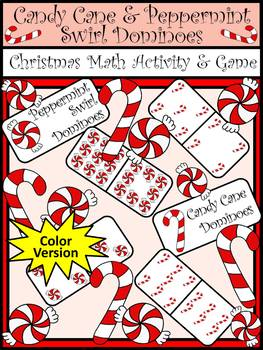 Candy Cane Activities: Candy Cane Dominoes Christmas Game Activity