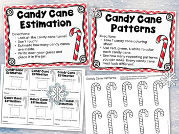 Candy Cane Activities and Centers 1st Grade 2nd Grade Math, Science