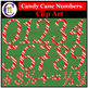 Candy Cane Alphabet & Candy Cane Numbers Clip Art BUNDLE