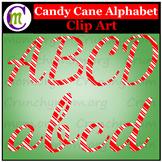 Candy Cane Alphabet Clip Art