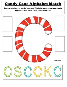 Candy Cane Alphabet Match