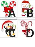 Candy Cane Alphabet & Number Cards