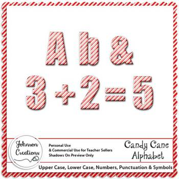 Candy Cane Alphabet by Johnson Creations