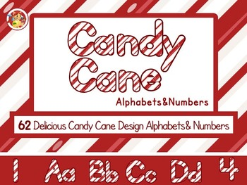 Candy Cane Alphabets and Numbers
