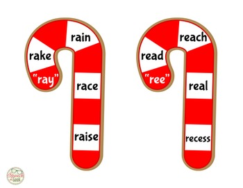 Candy Cane Artic: R, S, L Words by Vowel