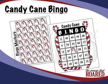 Candy Cane Christmas Holiday Bingo