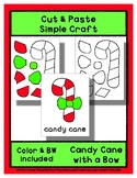 Candy Cane Bow - Cut & Paste Craft - Super Easy perfect fo