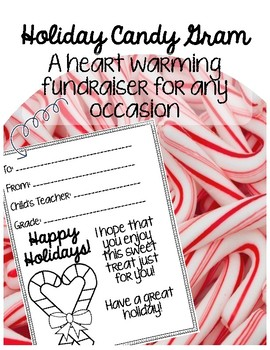 Candy Cane Candy Gram Fundraiser