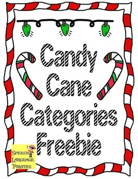 Candy Cane Categories Freebie