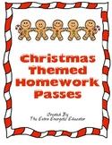 Candy Cane Christmas Homework Pass