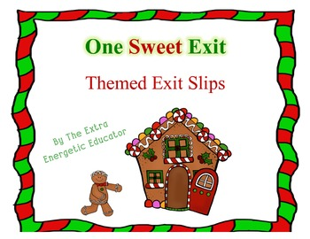 Candy Cane Christmas Themed Exit Slip