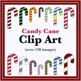Colorful Candy Cane Clip Art (OVER 120 IMAGES)