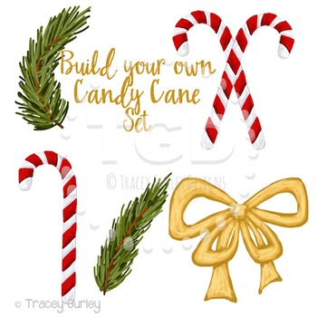 Candy Cane Clip Art, holiday clip art, Printable Tracey Gurley Designs