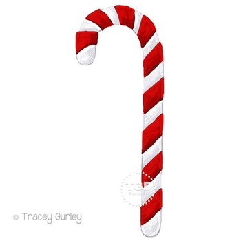 Candy Cane Clip Art, holiday clip art Printable Tracey Gurley Designs