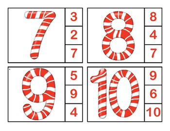 Candy Cane Clip Cards