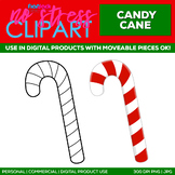 Candy Cane Clipart Single