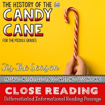 Candy Cane Close Reading Passage with Text Dependent Questions