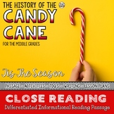 Candy Cane Differentiated Close Reading Passage
