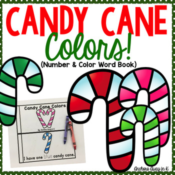 Candy Cane Colors Emergent Reader