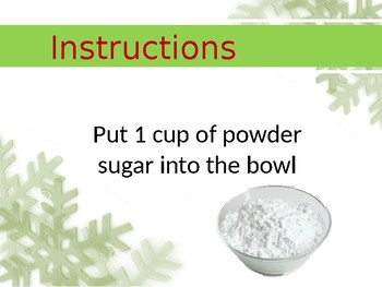 Baking - Candy Cane Cookies Power Point Lesson - Special Ed