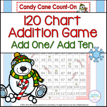 120 Chart Christmas Addition Game