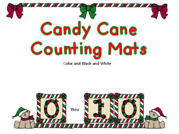 Candy Cane Counting Mats