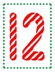 Candy Cane Counting Posters and Activities, Numbers 1-20