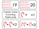 Candy Cane Counting Printable Flashcards. Preschool- Kinde
