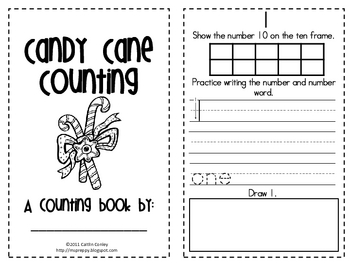 Candy Cane Counting to 10