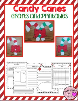 Candy Cane Craftivity & Printables (A Christmas Craftivity)