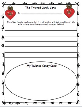 photo about Candy Cane Story Printable referred to as Sweet Cane Craftivity Printables (A Xmas Craftivity)