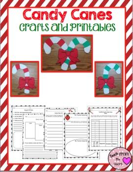 Candy Cane Craftivity & Printables (A Christmas Craftivity)