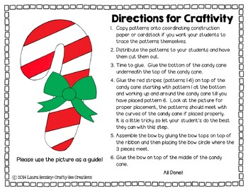 Candy Cane Cut and Paste