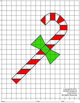 Candy Cane (Elementary), Coordinate Drawing & Graphing, My