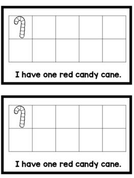 Candy Cane Emergent Reader (Color & Number Words)