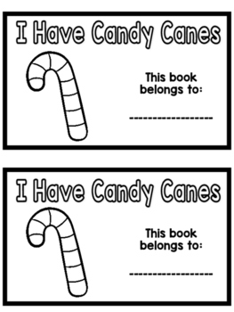 Candy Cane Emergent Reader (Color & Number Words)