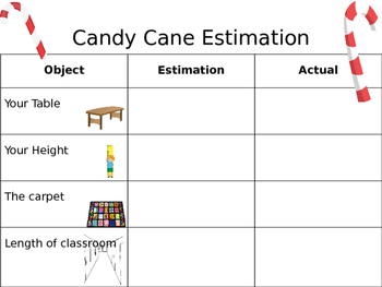 Candy Cane Estimation