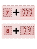 Candy Cane Flashcards ~ Friends of 10