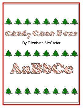 Font Clip Art: Candy Cane