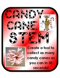 Candy Cane Grab: Holiday Christmas STEM activity with simple materials