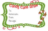 Candy Cane Gram - Christmas