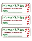 """Candy Cane"" Homework Pass –Holiday FUN! (full color version)"