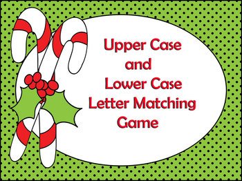Candy Cane Letter Matching Game
