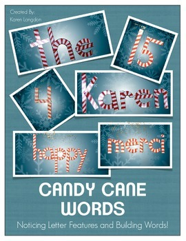 Candy Cane Letters - Notice Letter Features While Building Words!